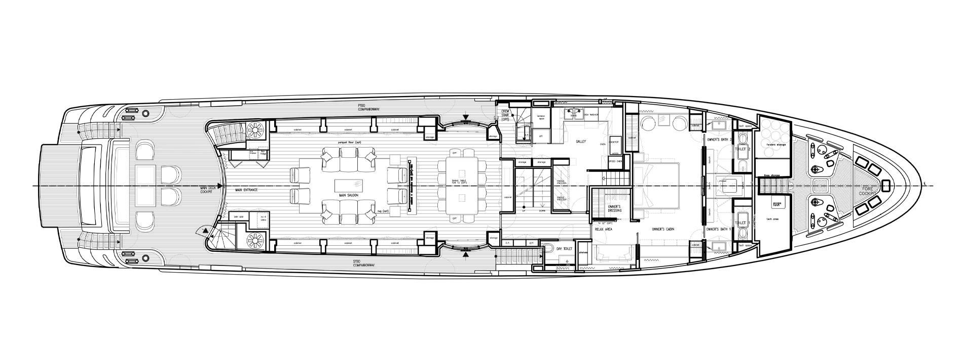 Sanlorenzo Yachts SD122-127 Main deck