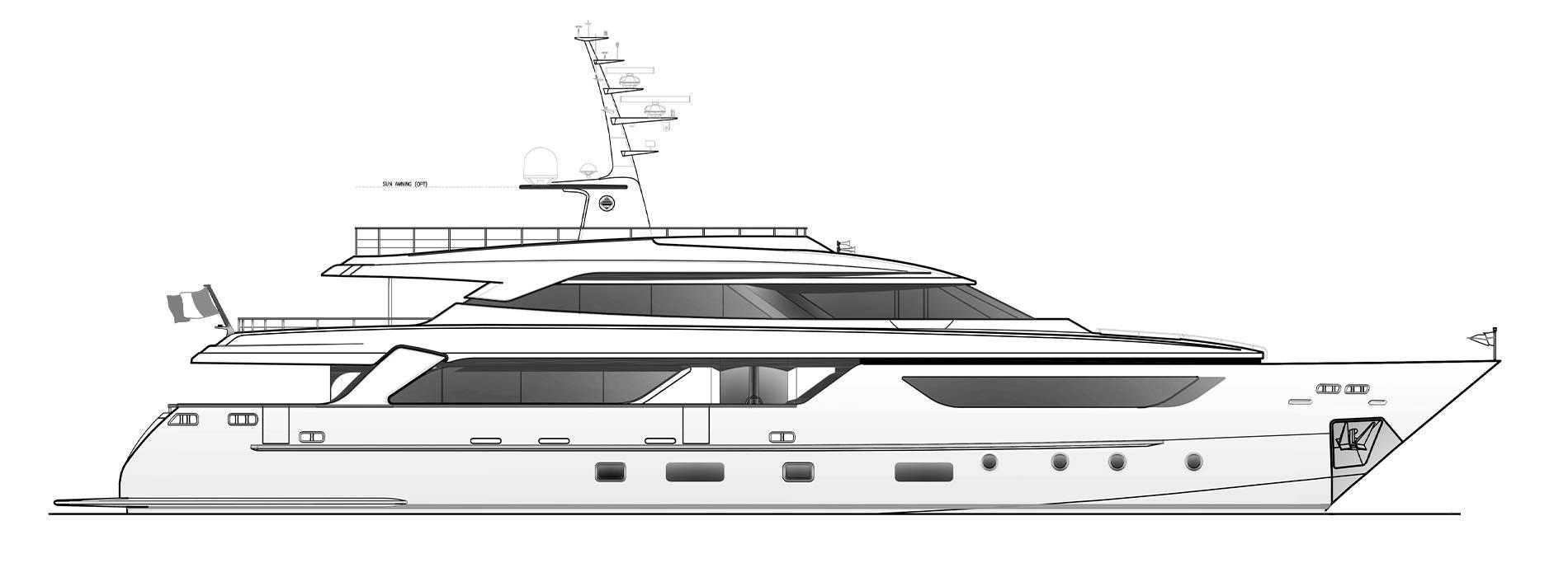 Sanlorenzo Yachts SD122-127 Profile