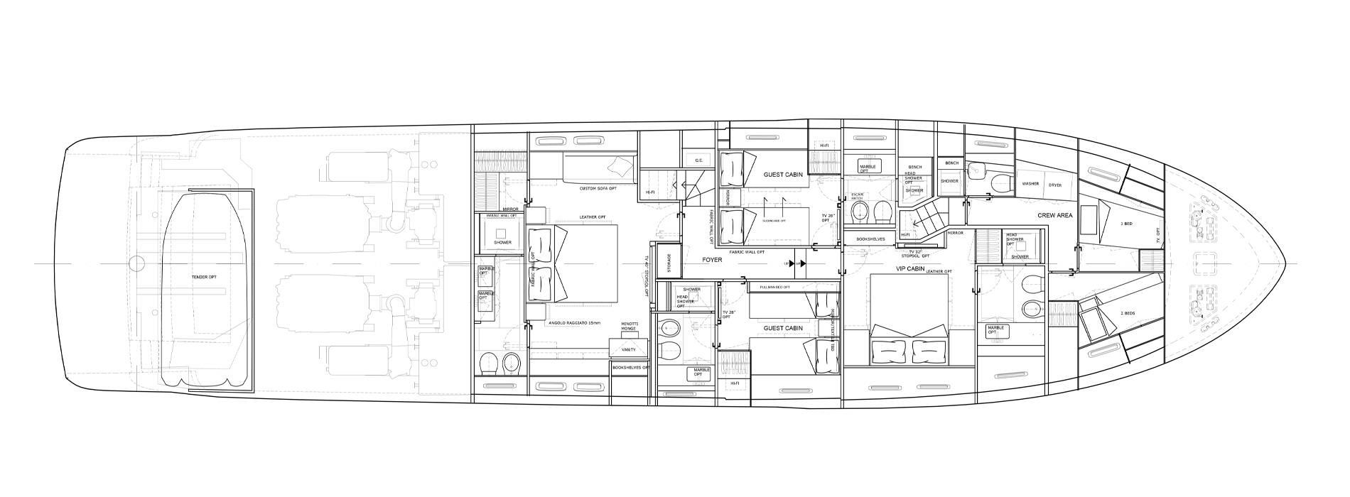Sanlorenzo Yachts SL86-727 Lower deck